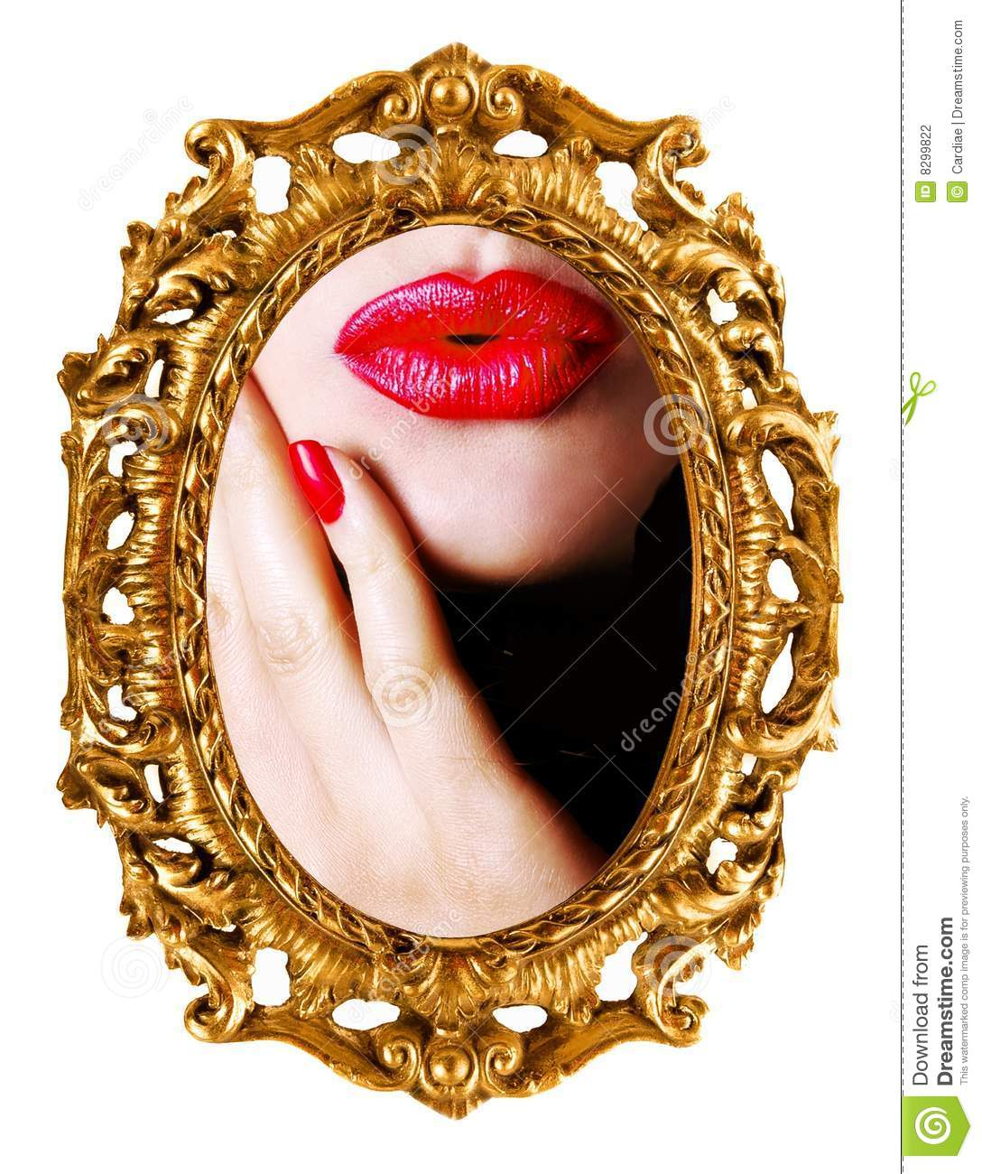 Kiss woman 39 s reflection in mirror stock photography for Mirror kisses