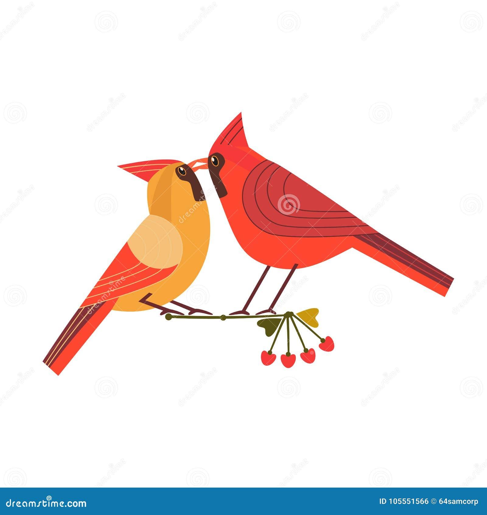 Kissing birds icon stock vector. Illustration of love - 105551566