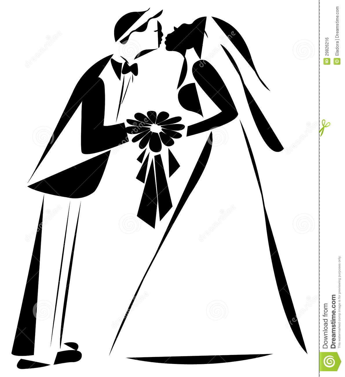 Just Married Couple Stock Vector Illustration Of Just 29826216