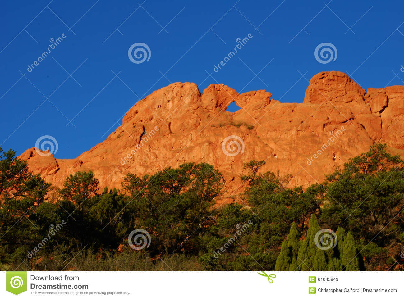 Kissing Camels Garden Of The Gods Stock Image , Image of