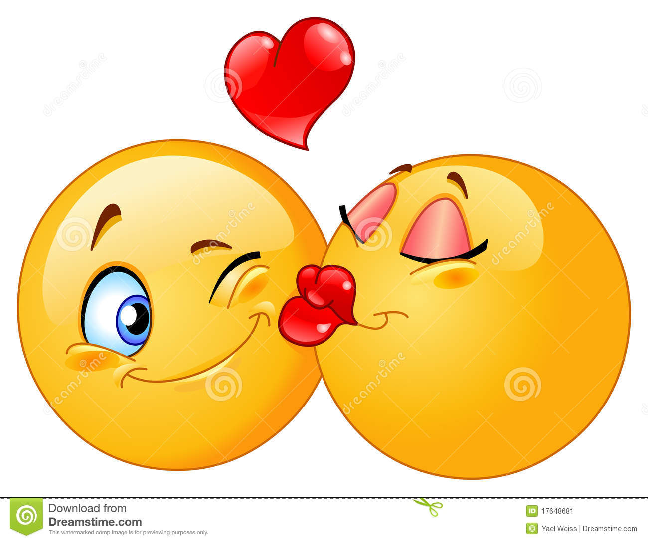Kissing Emoticons Stock Image - Image: 17648681