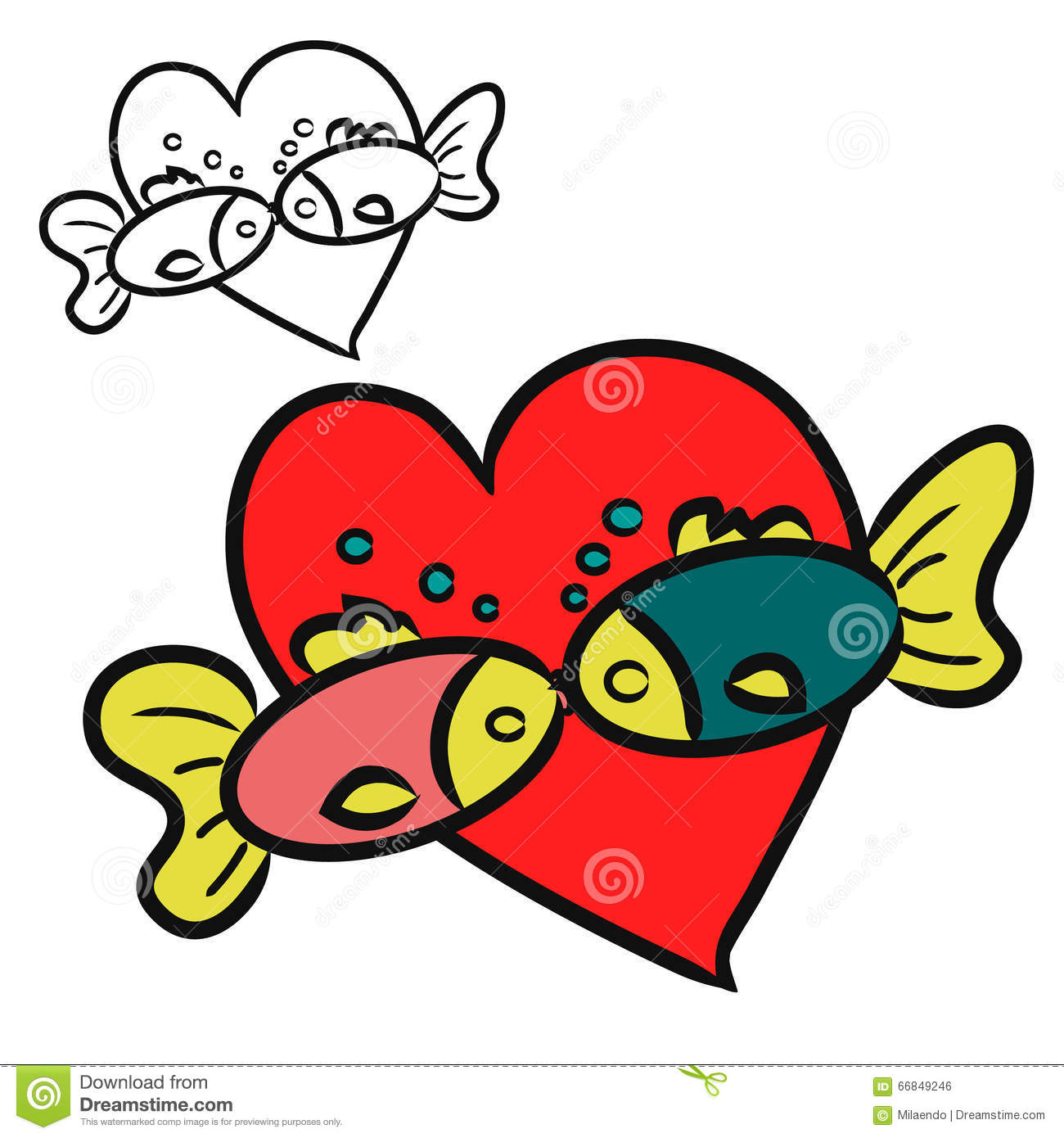 Two Fish Kissing Stock Illustrations – 65 Two Fish Kissing Stock ...