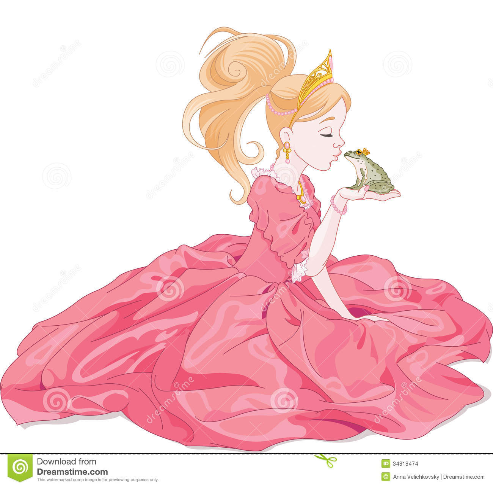 亲吻青蛙的童话公主,希望王子.图片