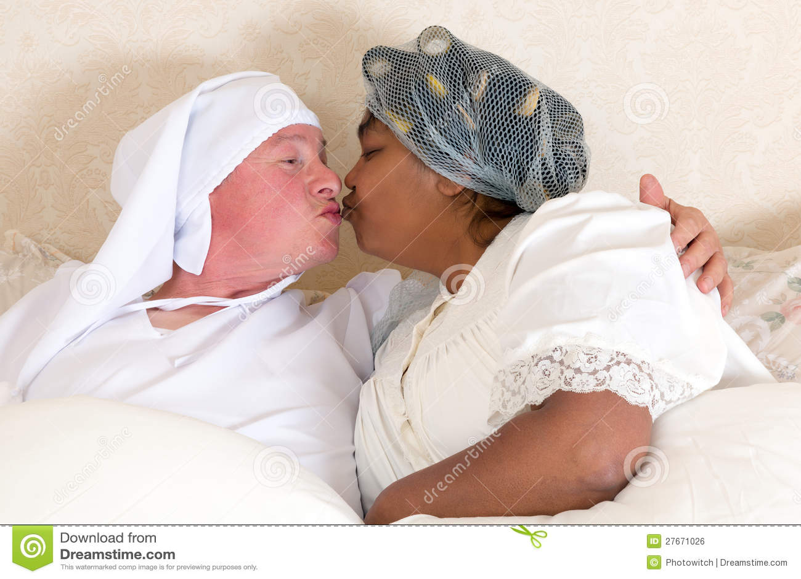 Kissing Good Night Royalty Free Stock Image Image 27671026
