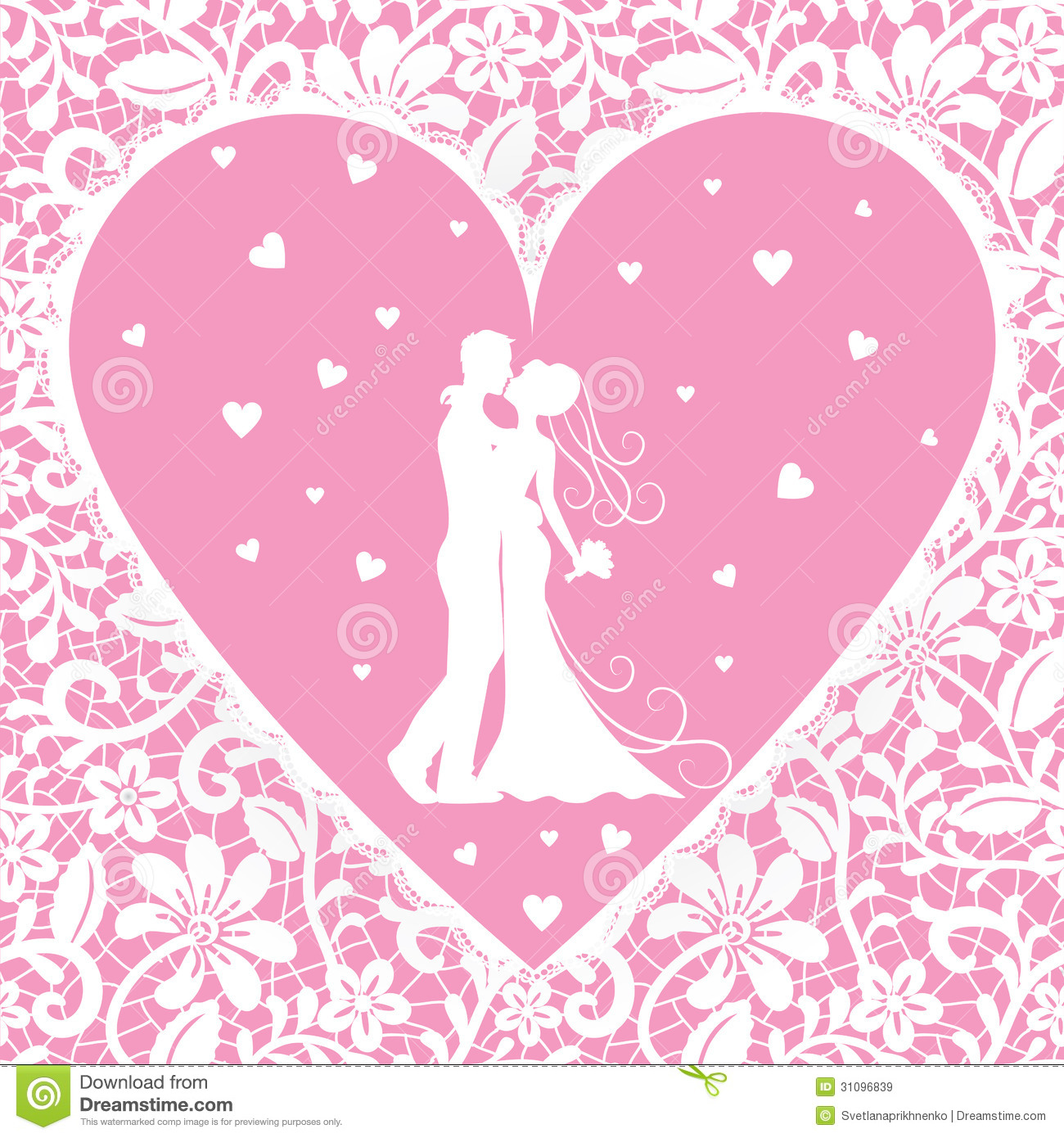 Kissing Groom And Bride On Lace Background Royalty Free ...
