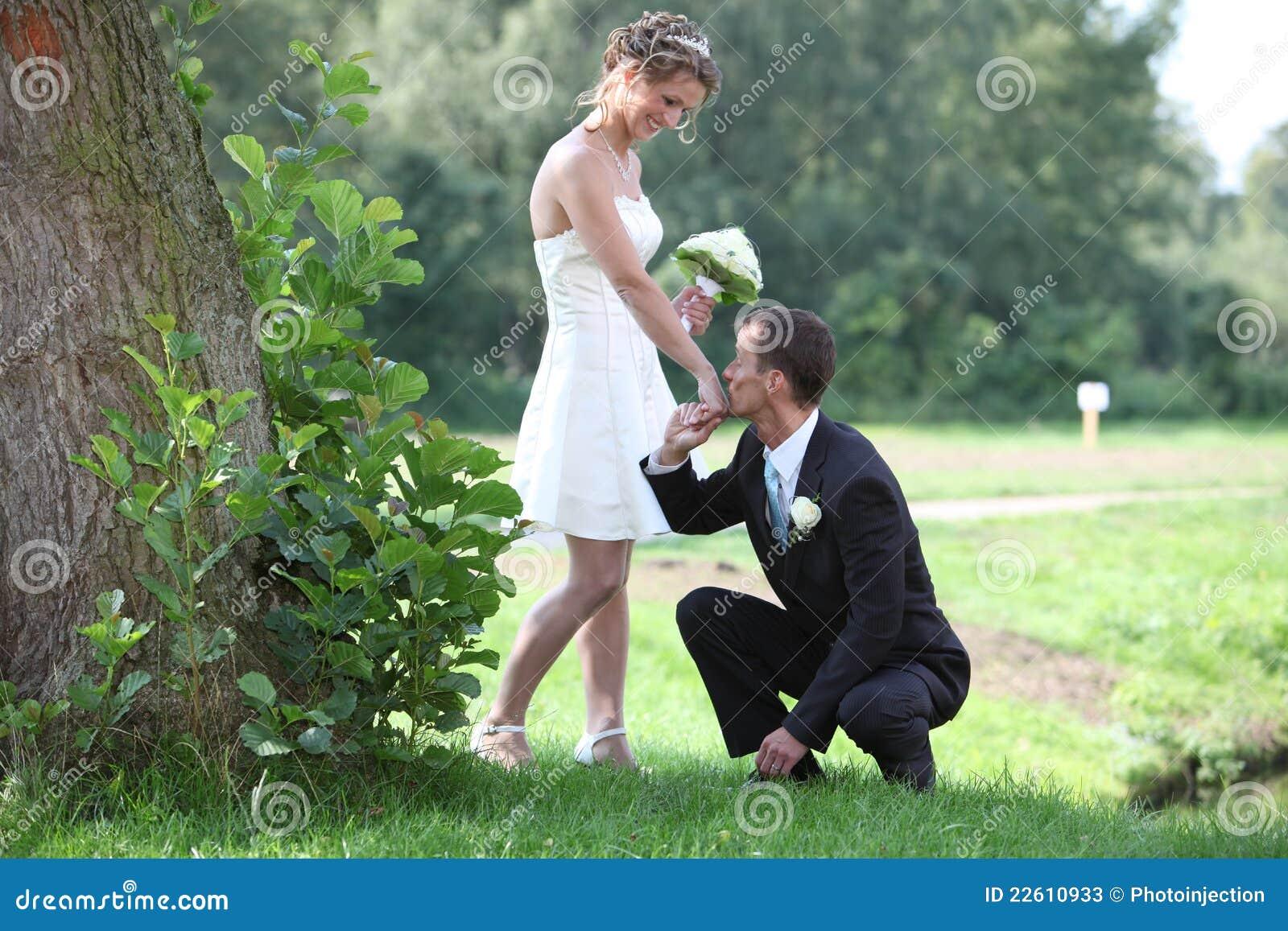 Sexy wedding dress with legs free mini dress photo made outdoor
