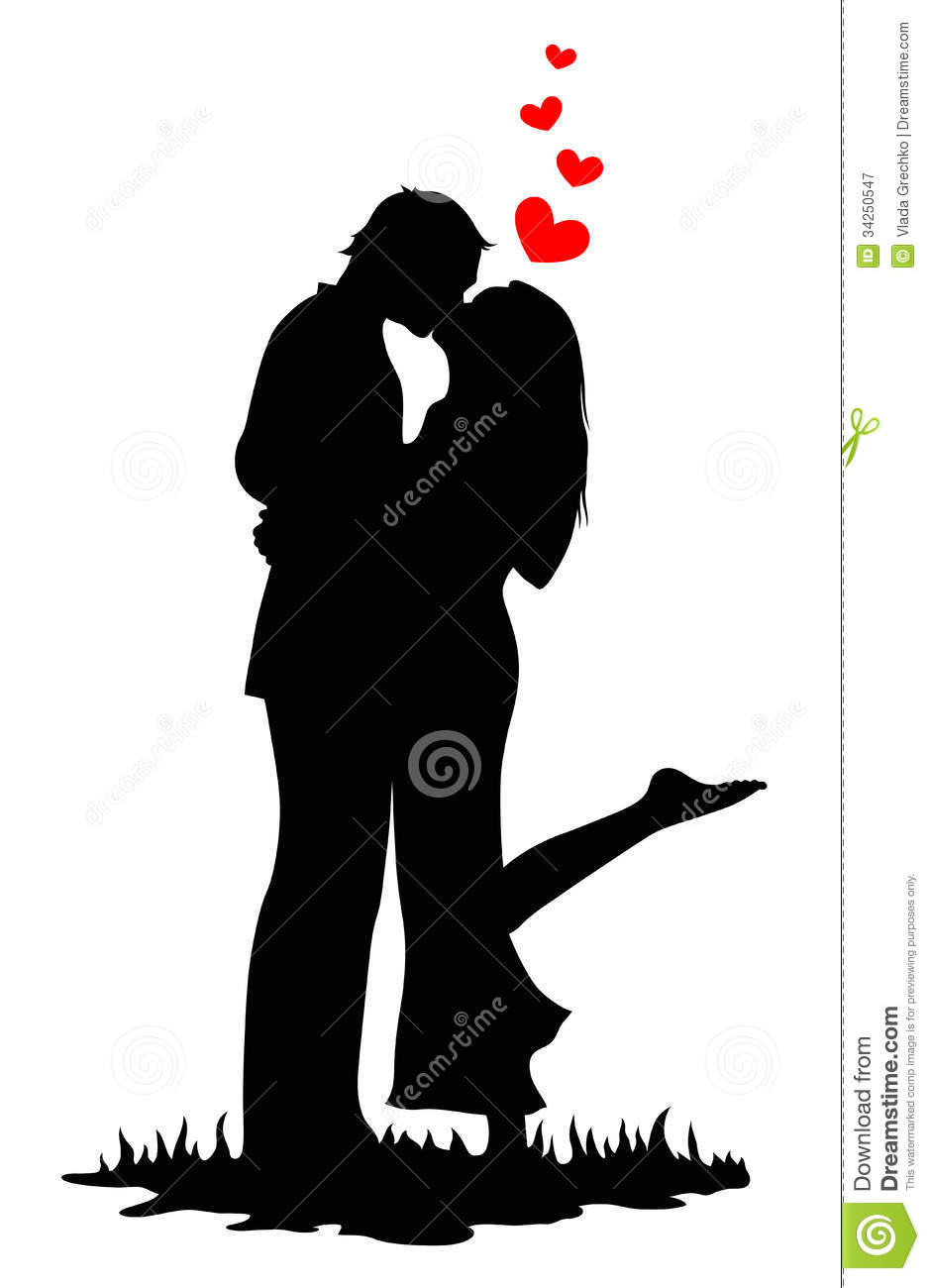 Kissing Lovers Royalty Free Stock Photography - Image: 34250547