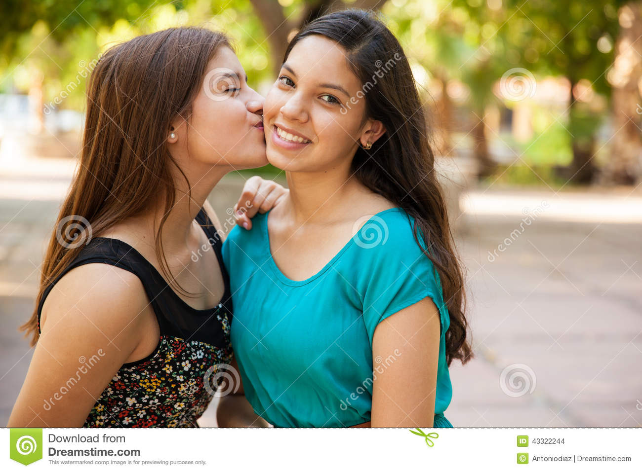 Kissing My Best Friend Stock Photo Image 43322244