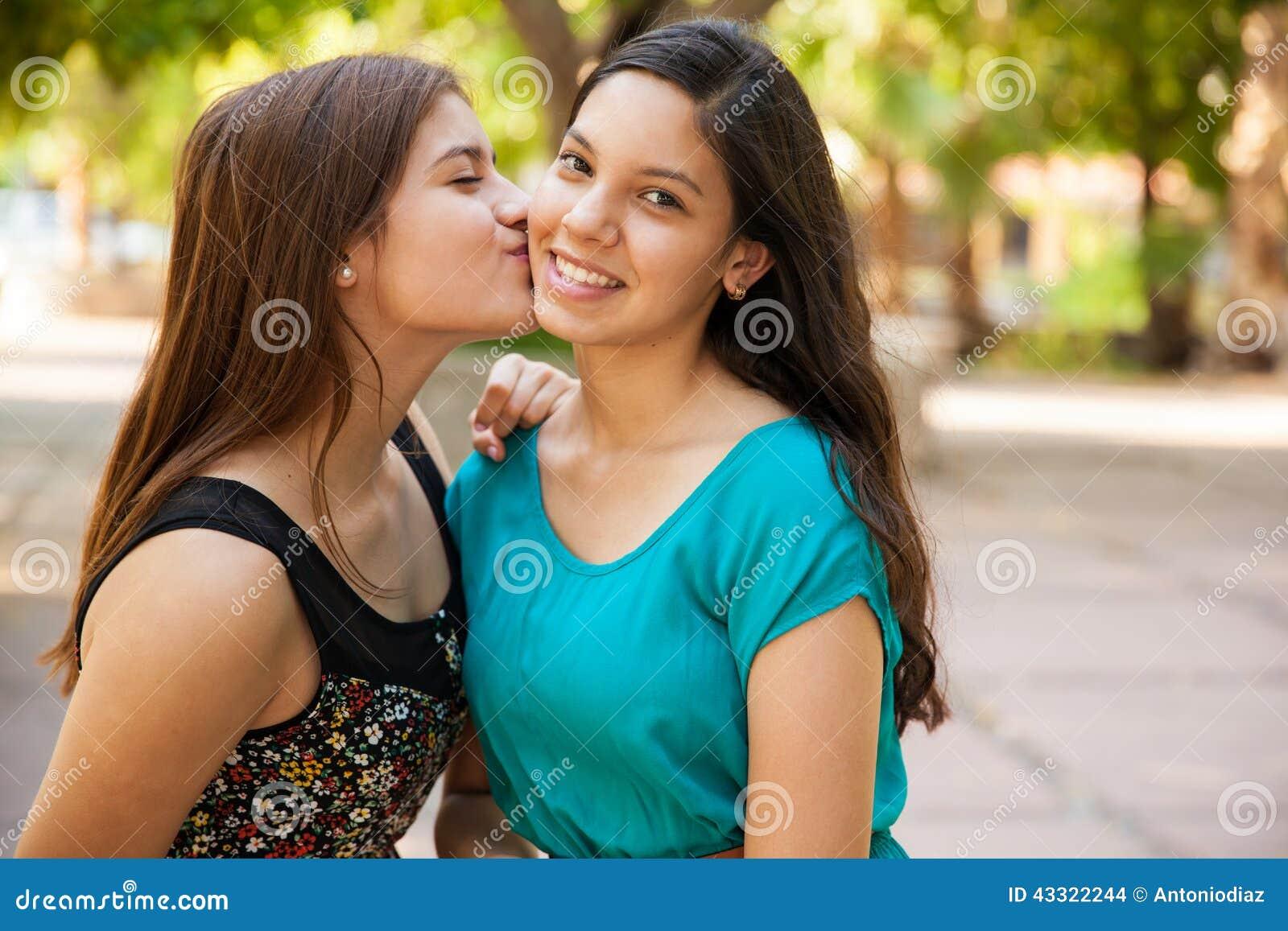 kissing a friend