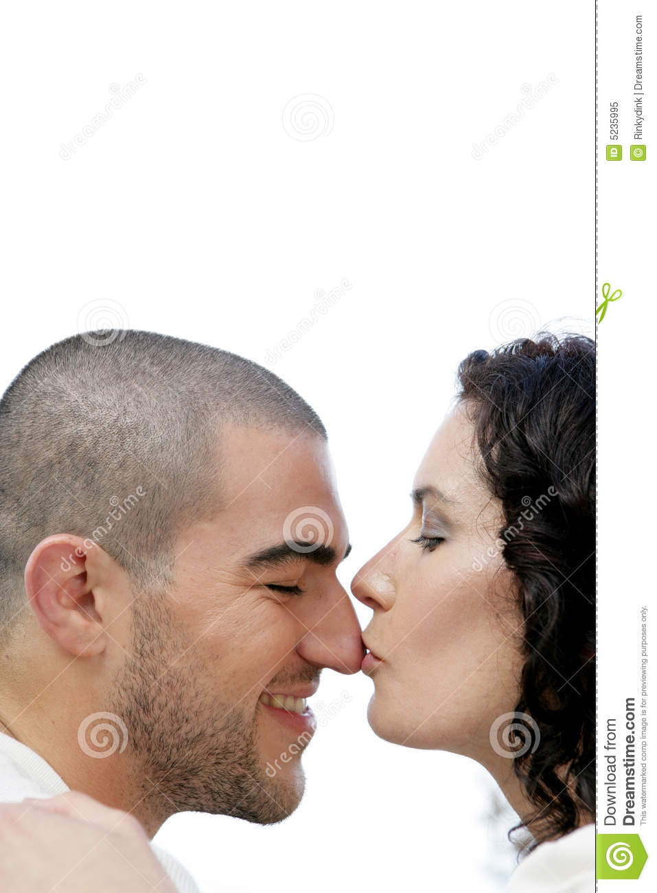 Kissing on the nose stock image. Image of caucasian, bald ...