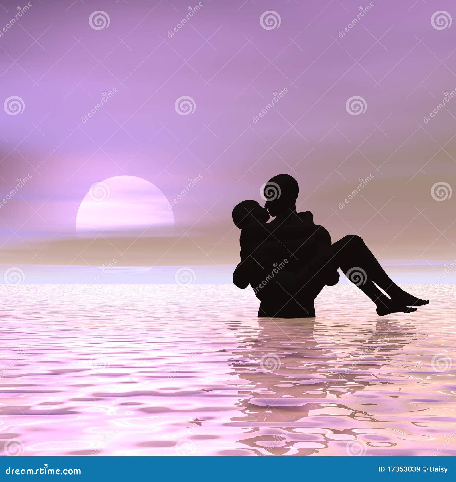 Kissing at sunrise
