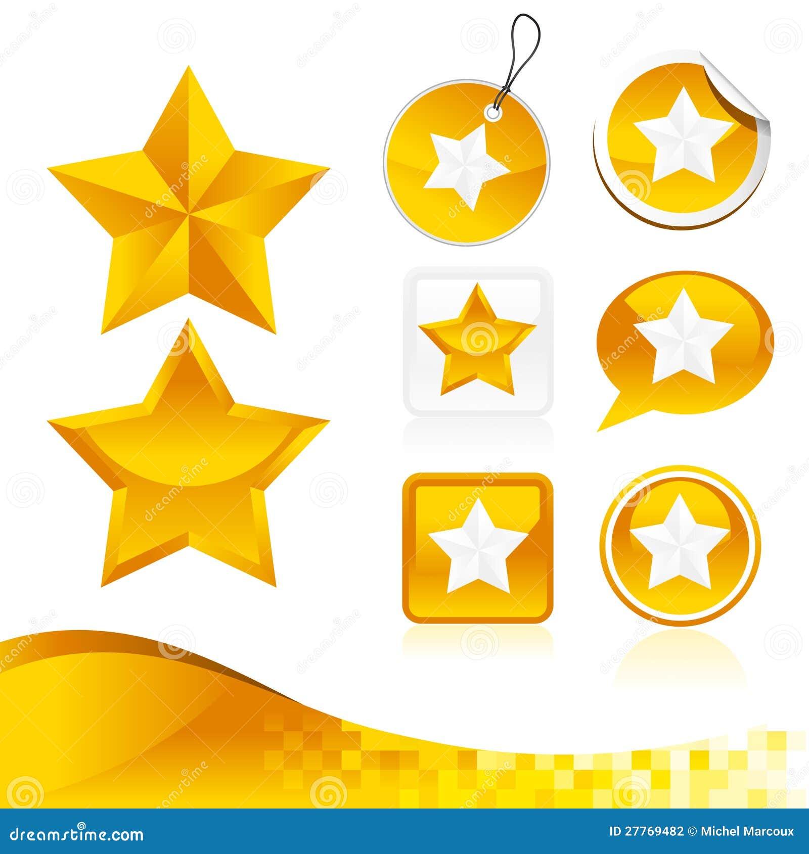 Kit d or de conception d étoile