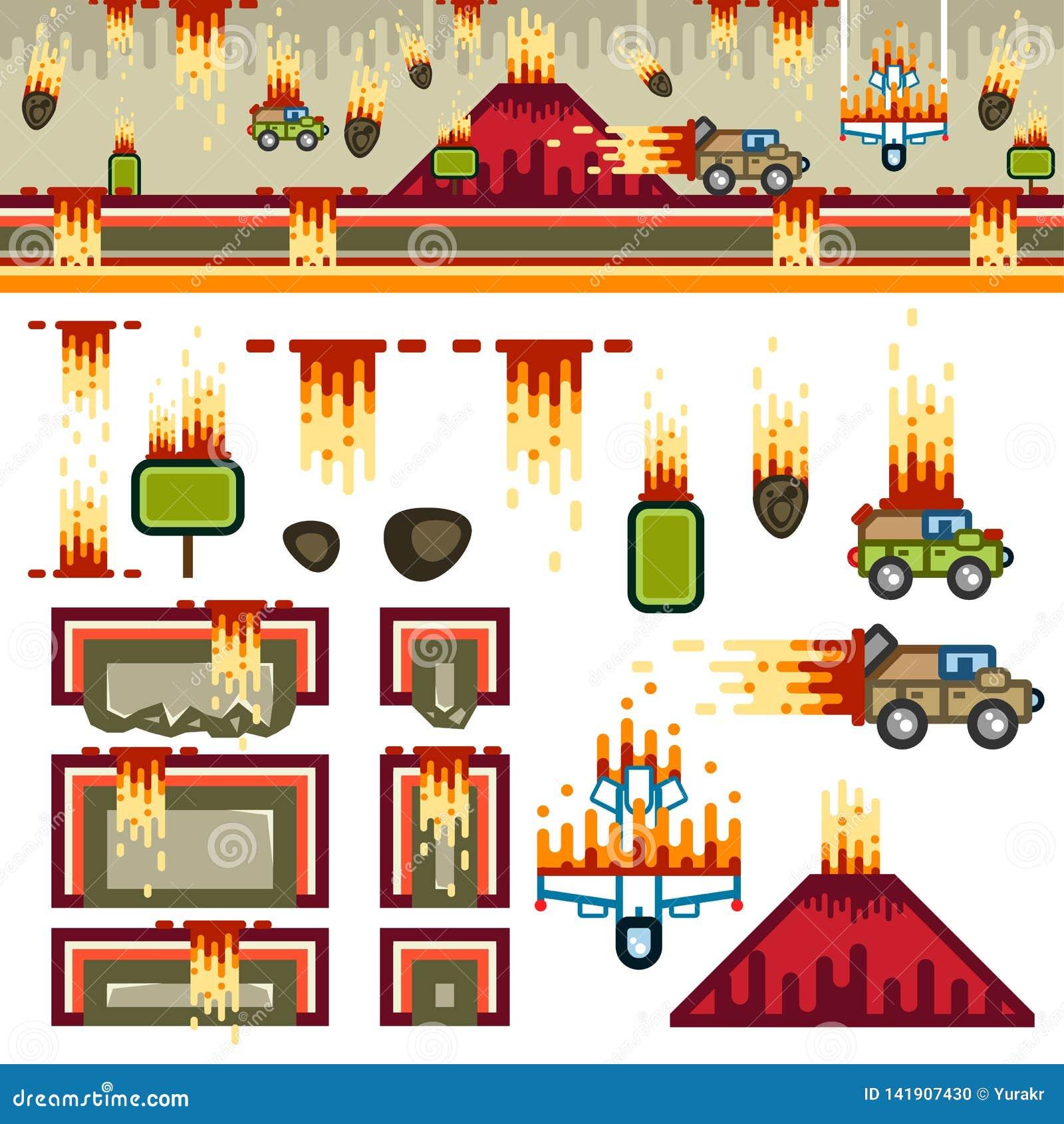 Kit de niveau de jeu plat d Armageddon