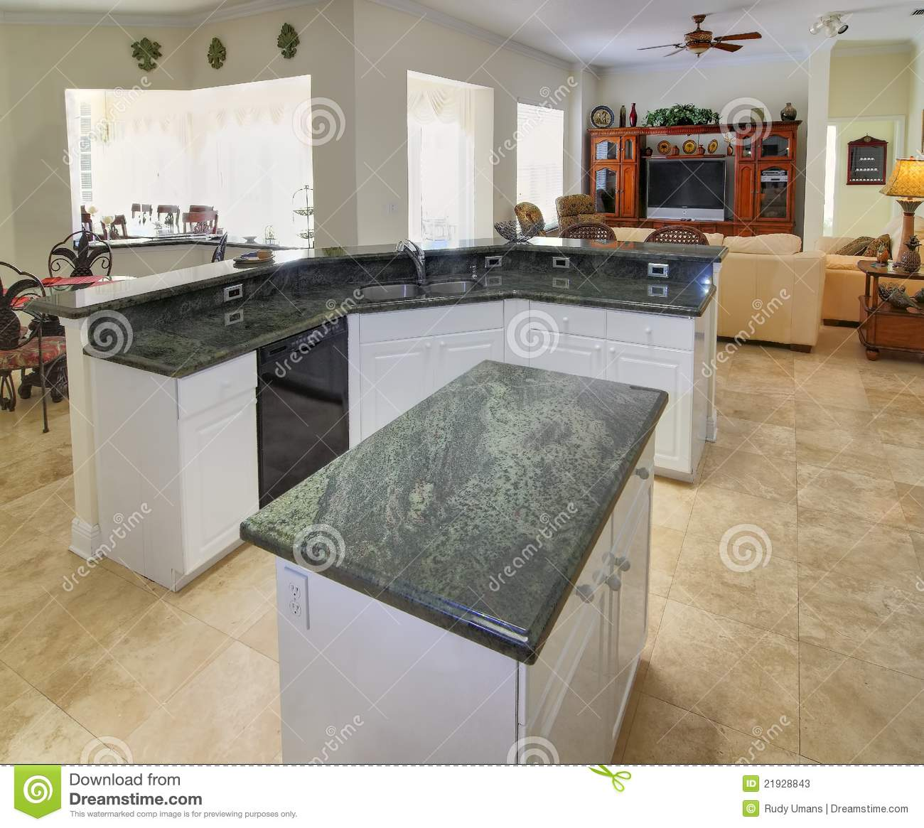 Kitchen Stock Image Image Of Family Architecture Island 21928843