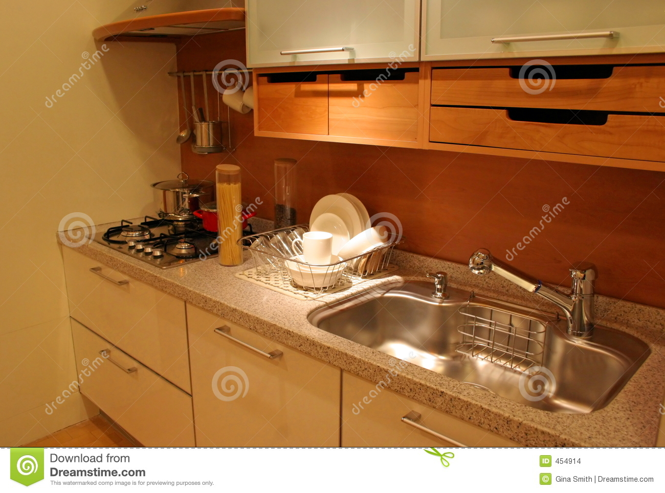Download Kitchen stock photo. Image of bright, attractive, decoration - 454914
