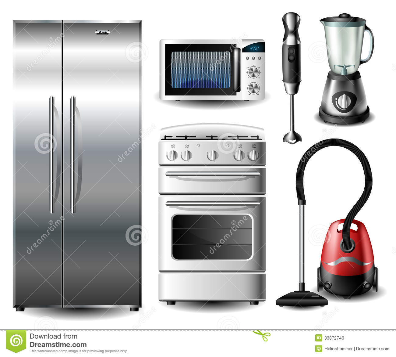 Kitchen Appliance Set Royalty Free Stock Images Image