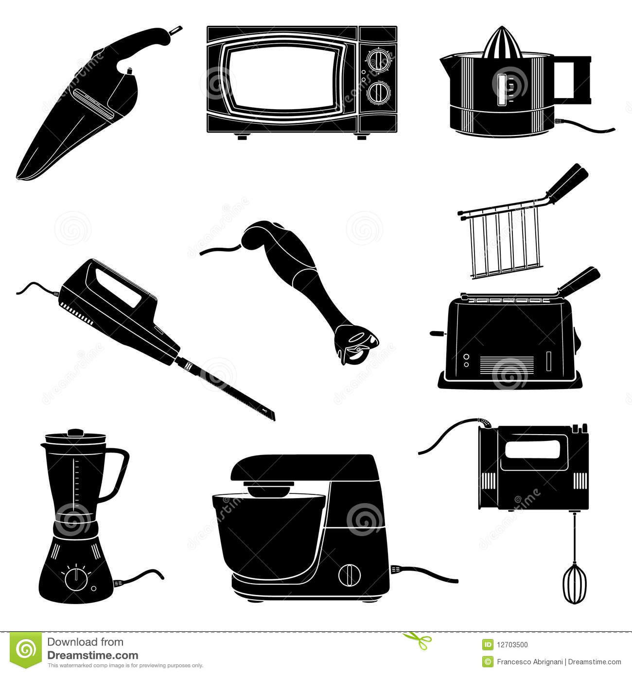 kitchen appliances stock vector image of grid squeezer 12703500. Black Bedroom Furniture Sets. Home Design Ideas