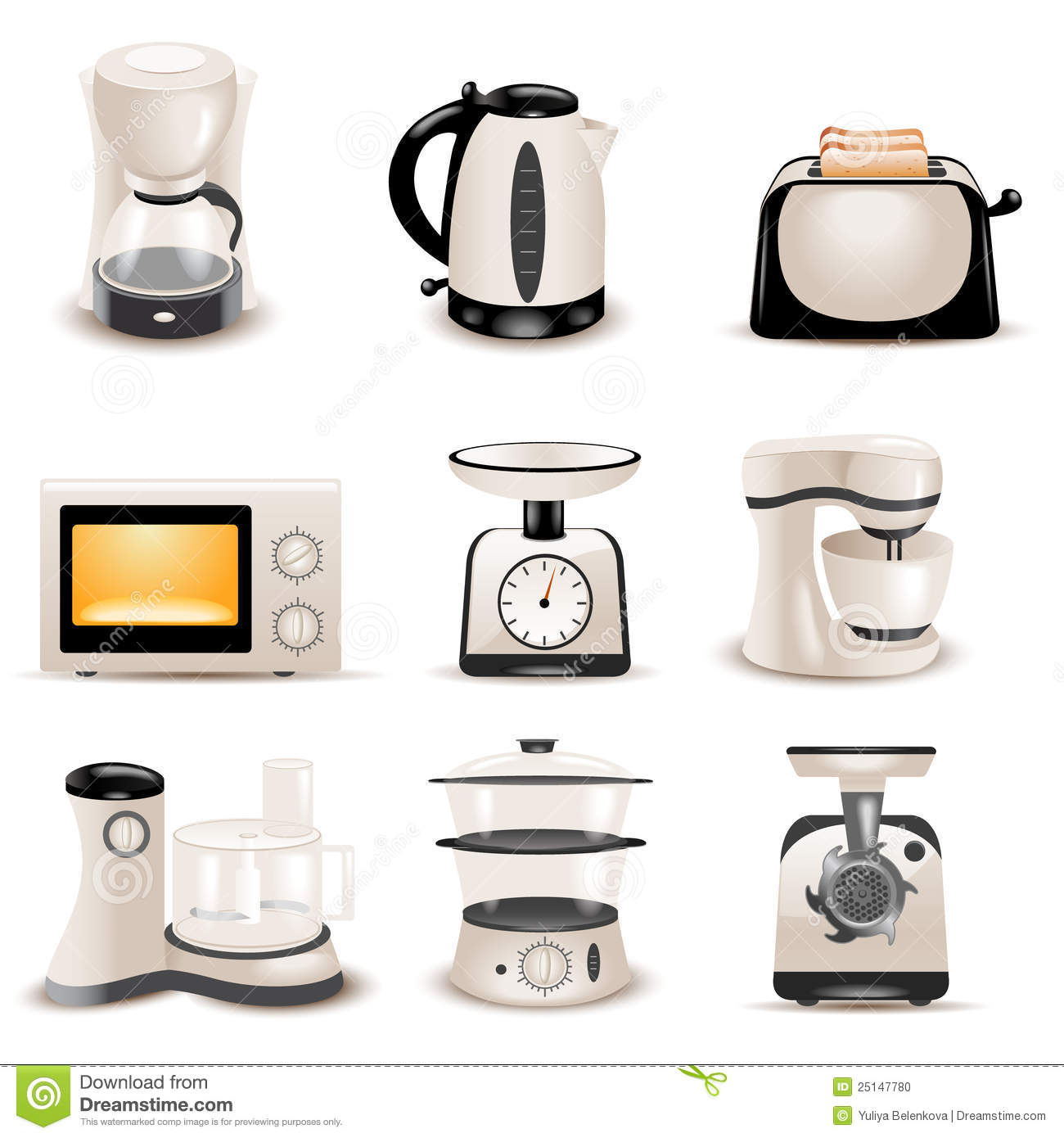 kitchen appliances stock photo - image: 25147780