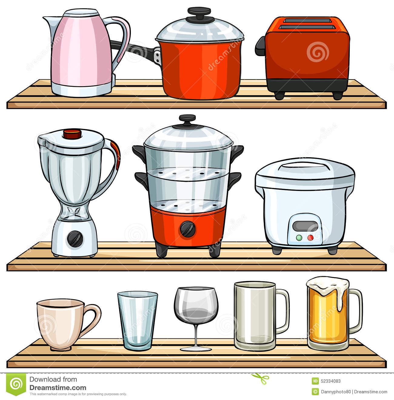Kitchen Appliances Clip Art ~ Kitchen appliances stock vector image