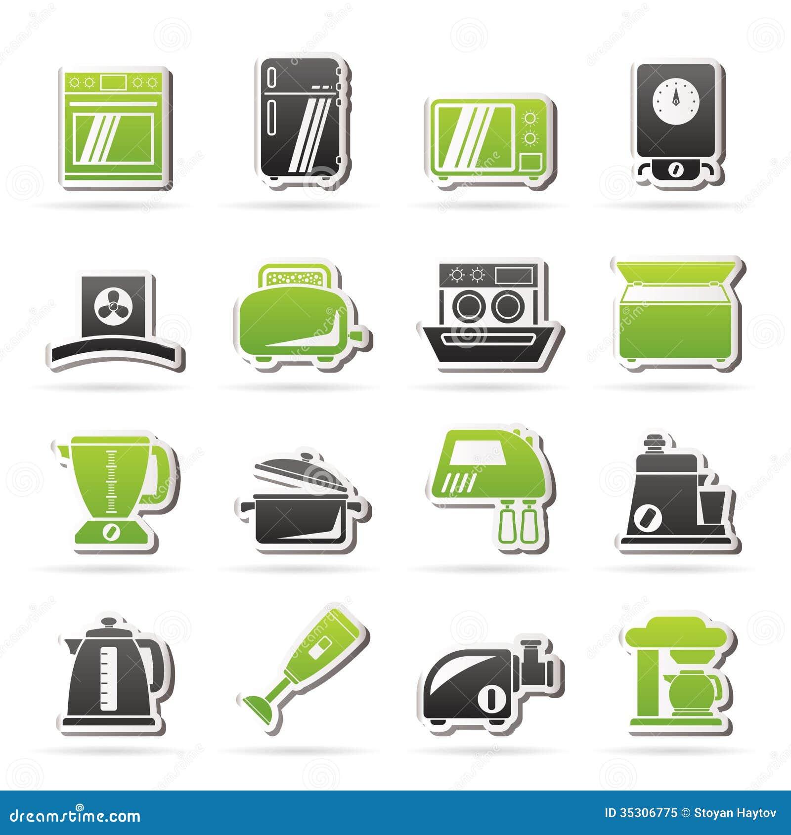 Uncategorized Free Kitchen Appliances kitchen appliances and equipment icons royalty free stock photo