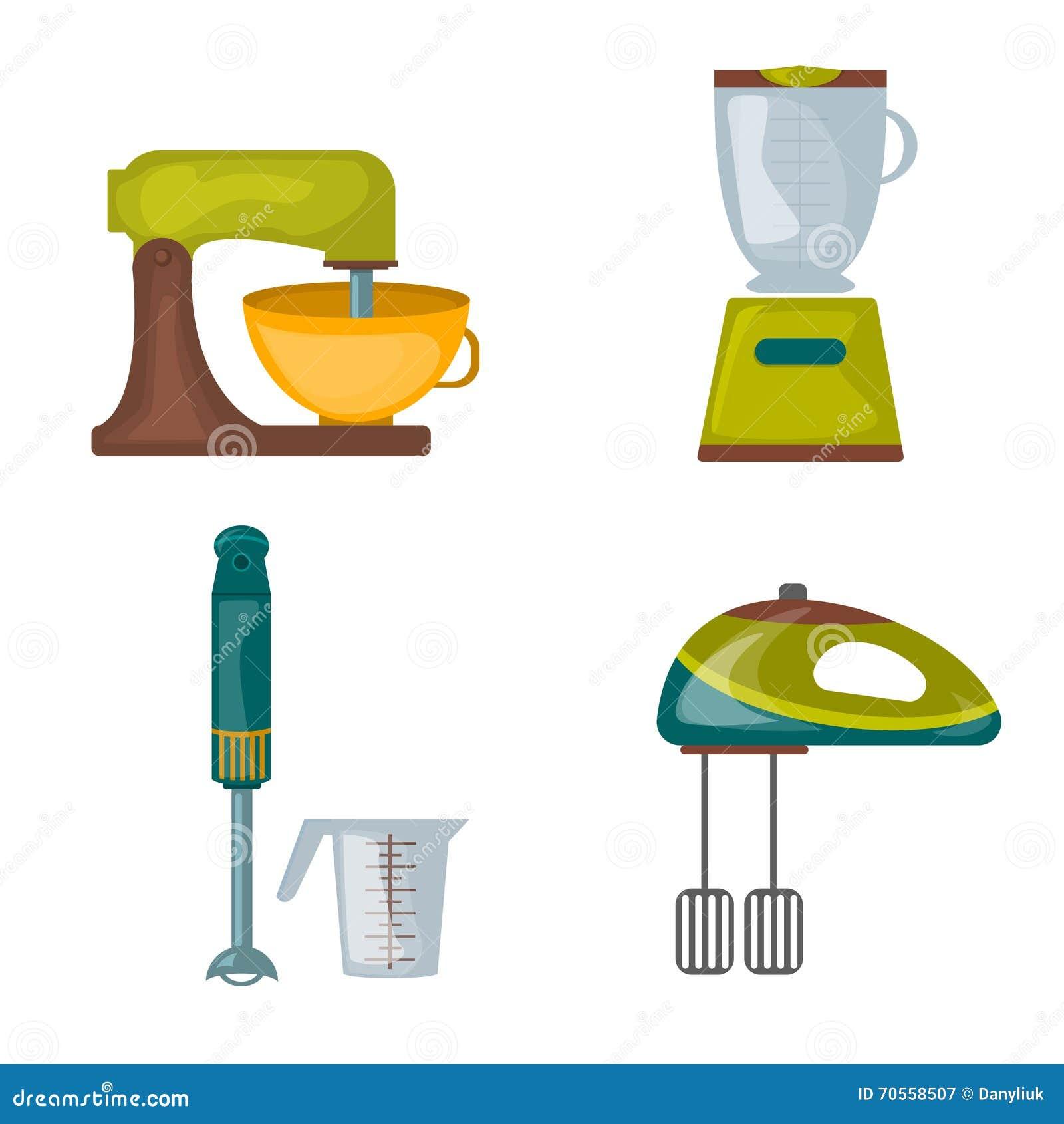 Cartoon Food Processor ~ Cooking hand with blender vector illustration