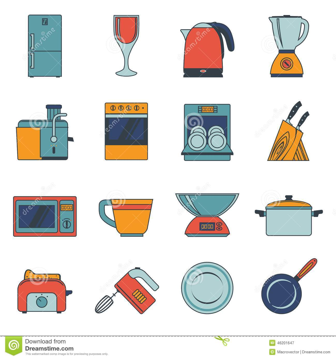 Uncategorized Free Kitchen Appliances set of kitchen appliances flat icons with a stock vector image royalty free photography