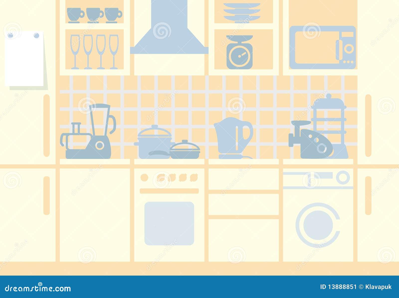 Kitchen Background Stock Image - Image: 13888851