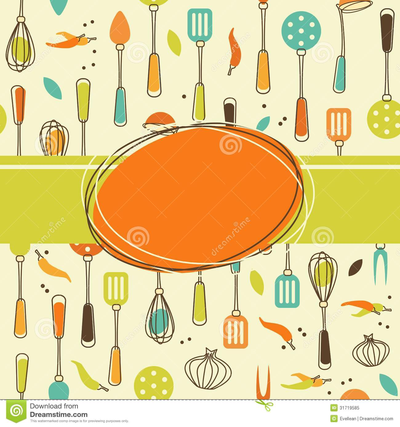 Kitchen Utensils Background creative kitchen background stock vector - image: 51644207