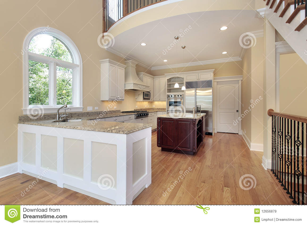 Kitchen with balcony royalty free stock images image for Balcony kitchen
