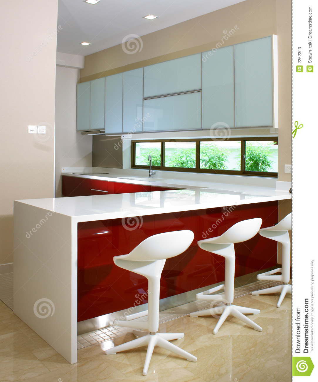 Kitchen and bar counter stock image. Image of glass, contemporary ...