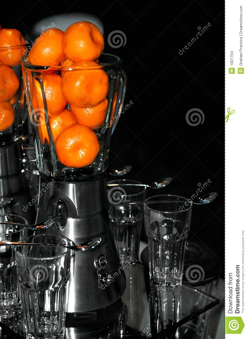 Kitchen Blender with Mandarins