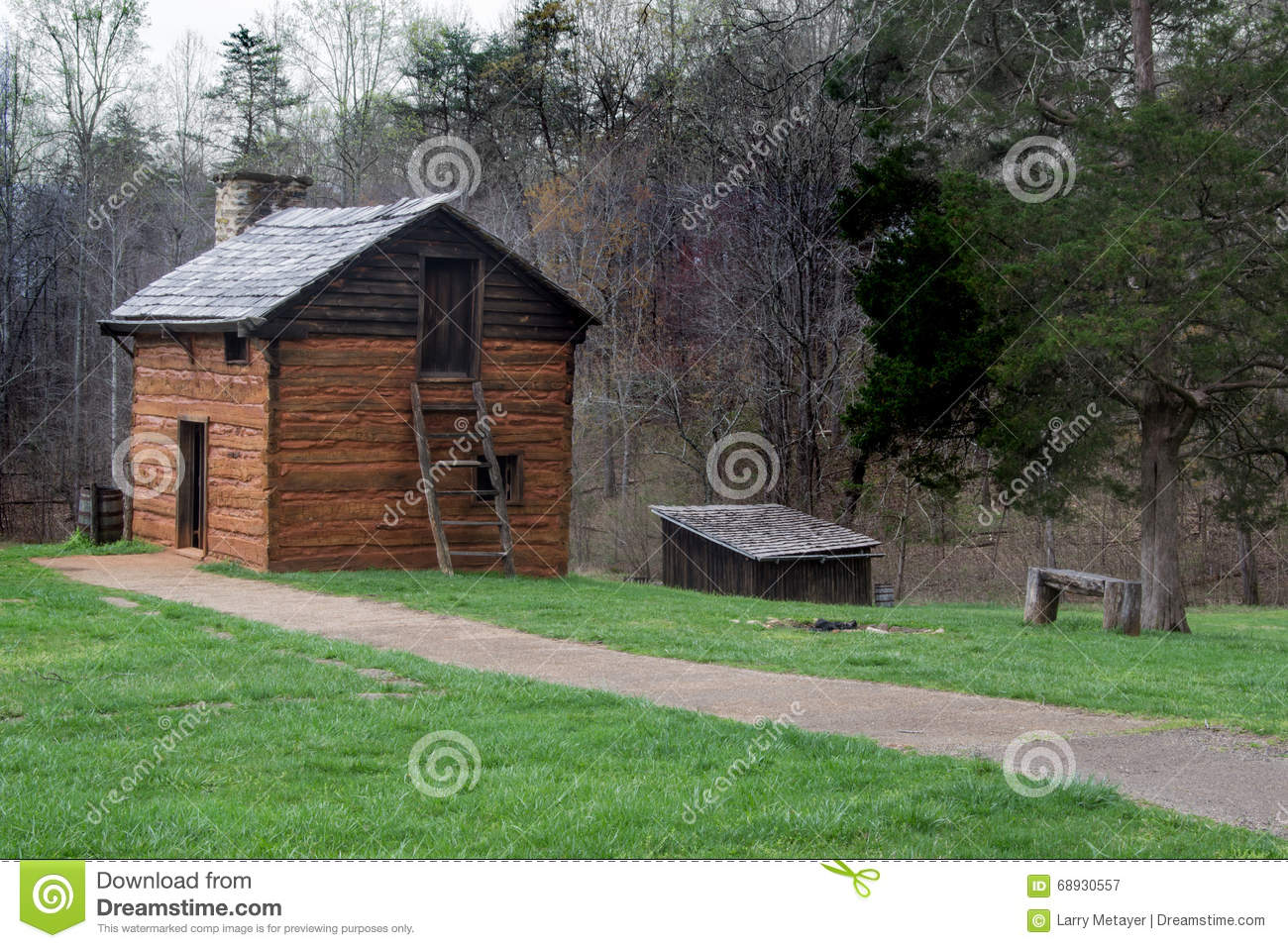 Kitchen Cabin on the Grounds of Booker T. Washington National Monument