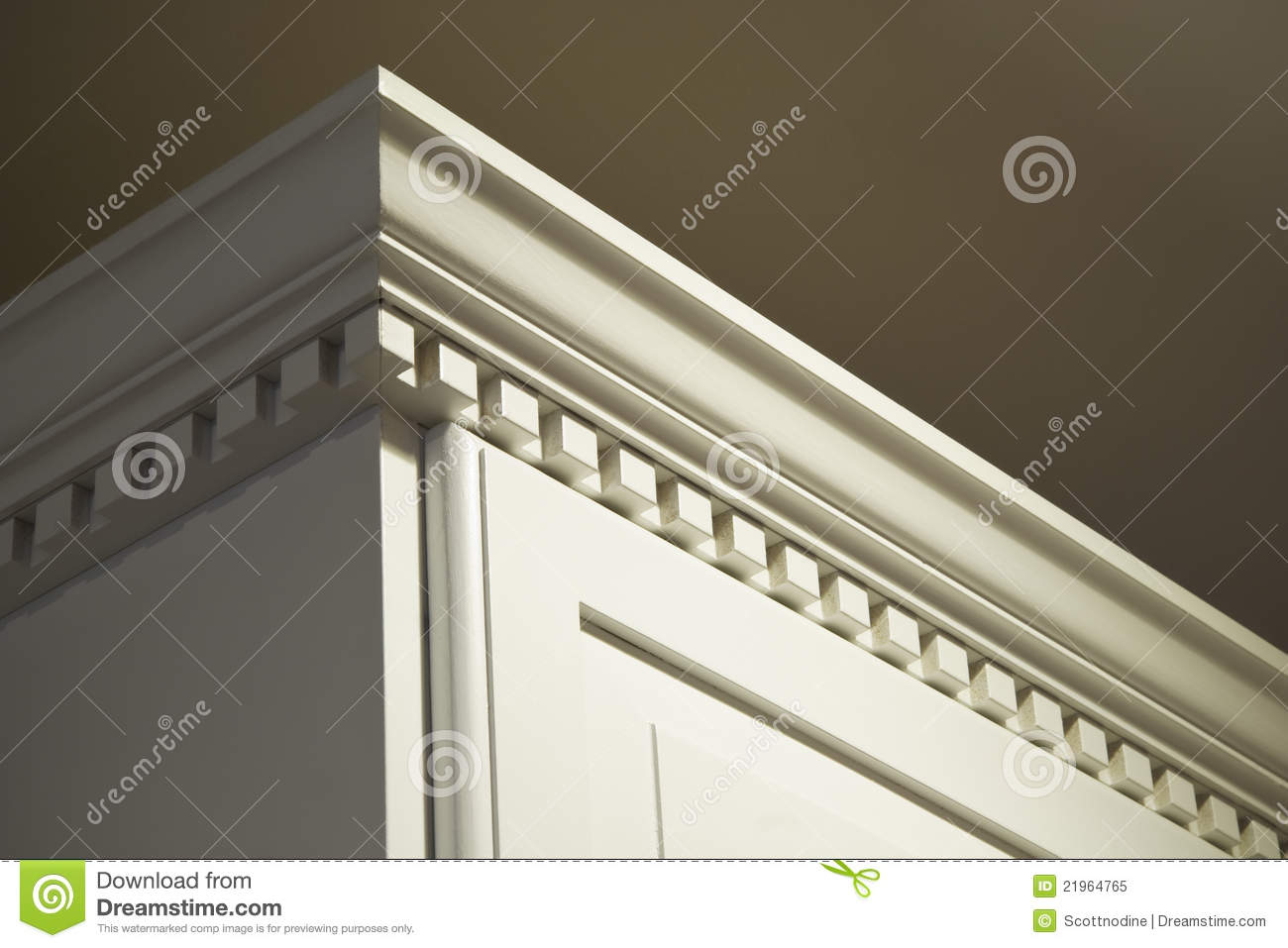 Kitchen Cabinet Crown Moulding Royalty Free Stock Photo
