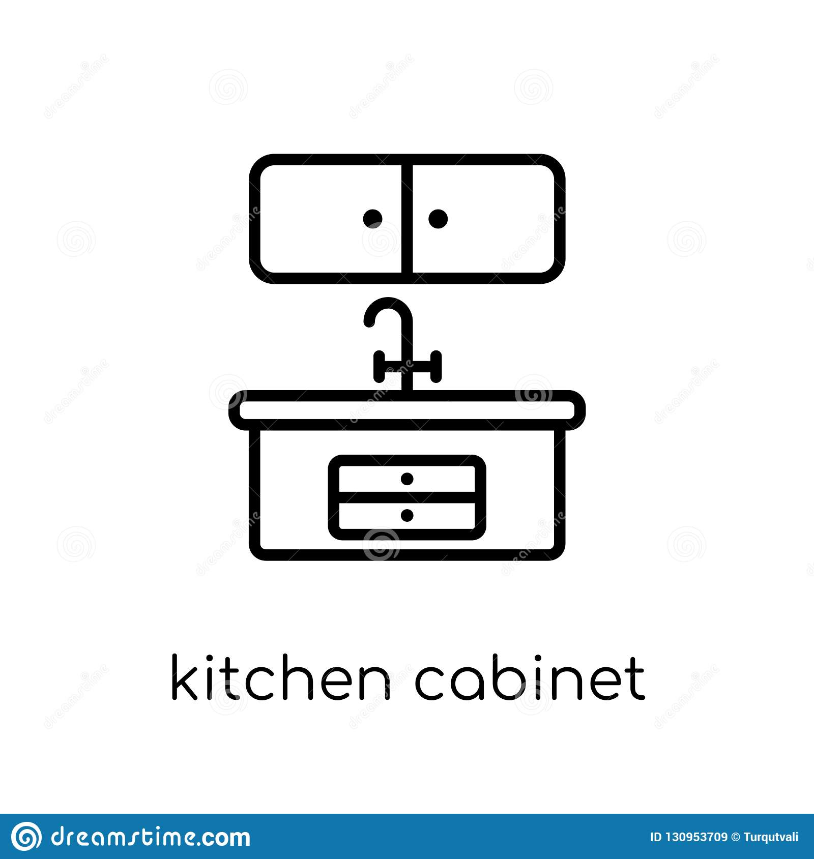 Kitchen Cabinet Icon From Kitchen Collection Stock Vector