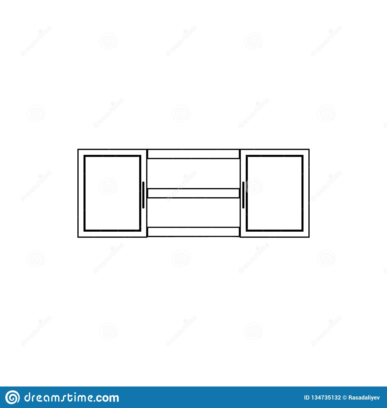 Kitchen Cabinet Icon Element Of Furniture For Mobile Concept And