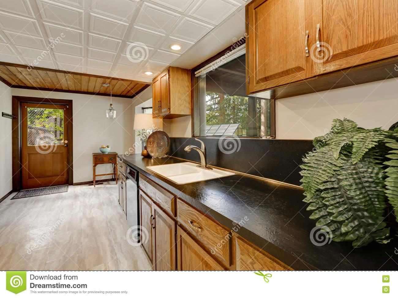 Kitchen Counter Close Up kitchen counter close up black and white stock illustration