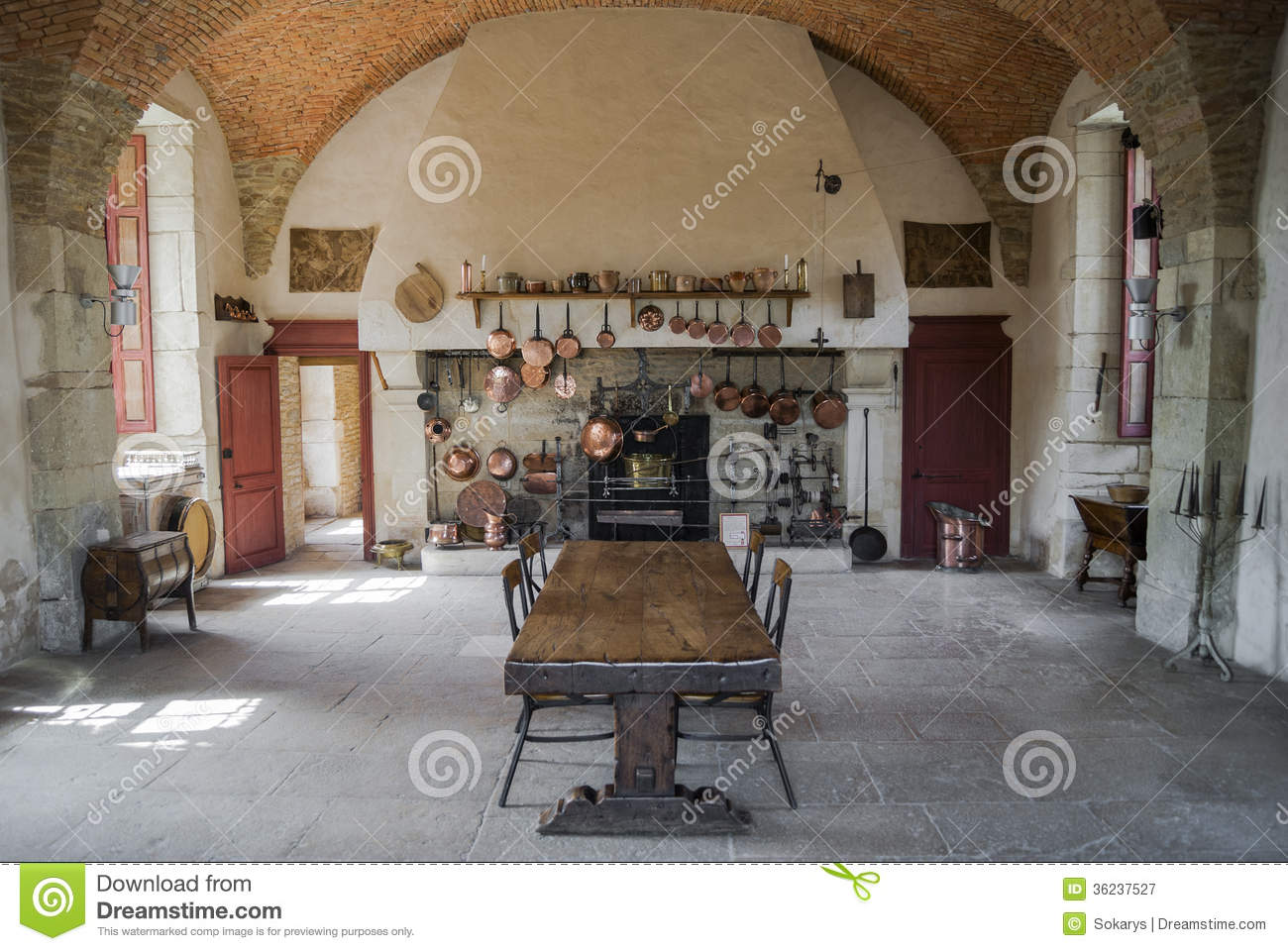 Kitchen Of Castle Royalty Free Stock Photography