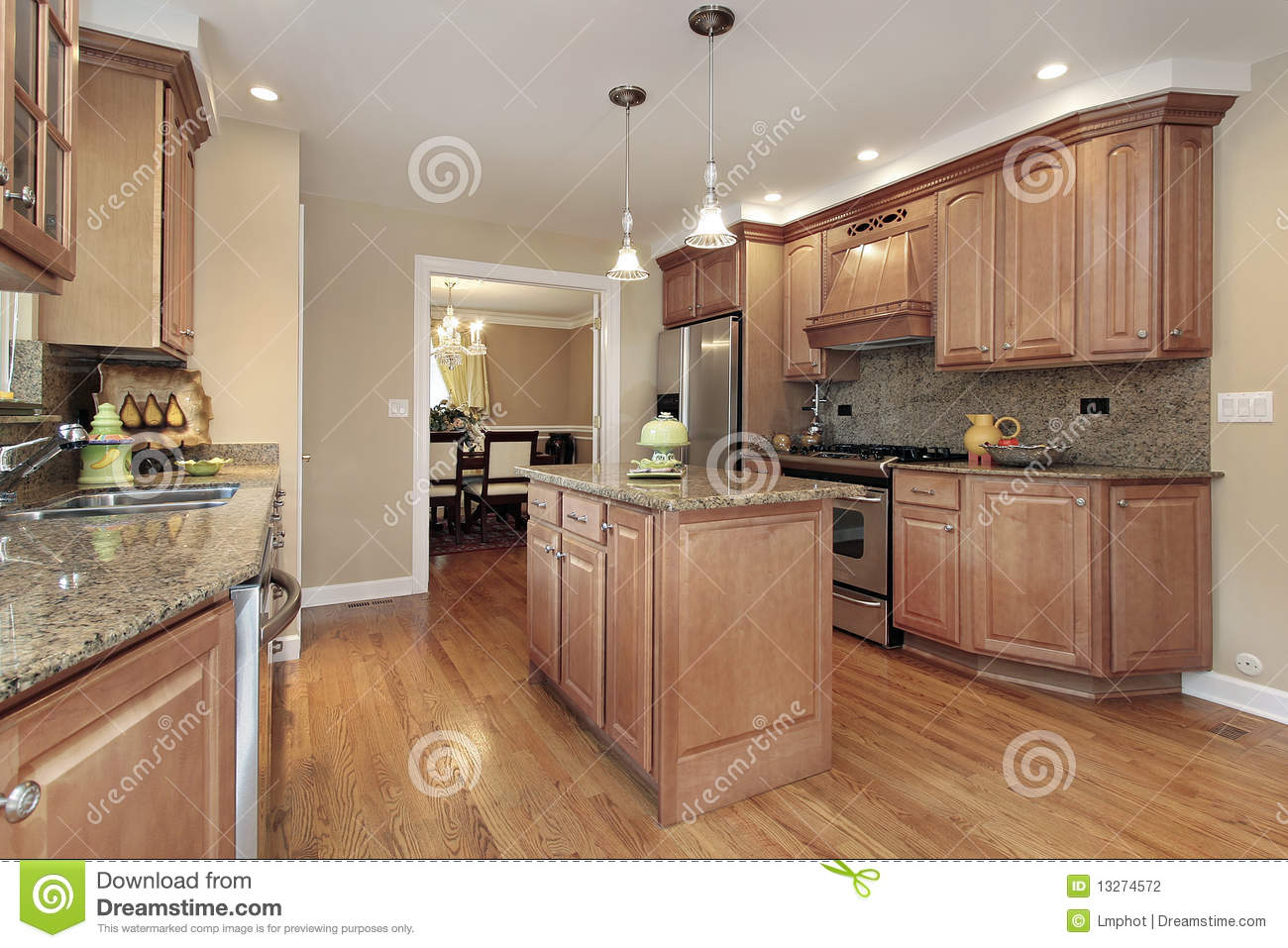 Kitchen with center island stock photography image 13274572 for Kitchen with centre island