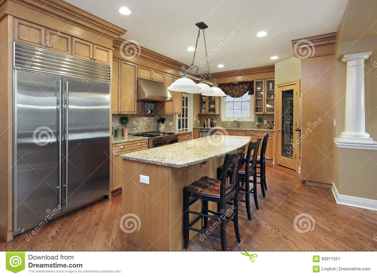 Kitchen With Center Island kitchen with center island stock photo - image: 83911551