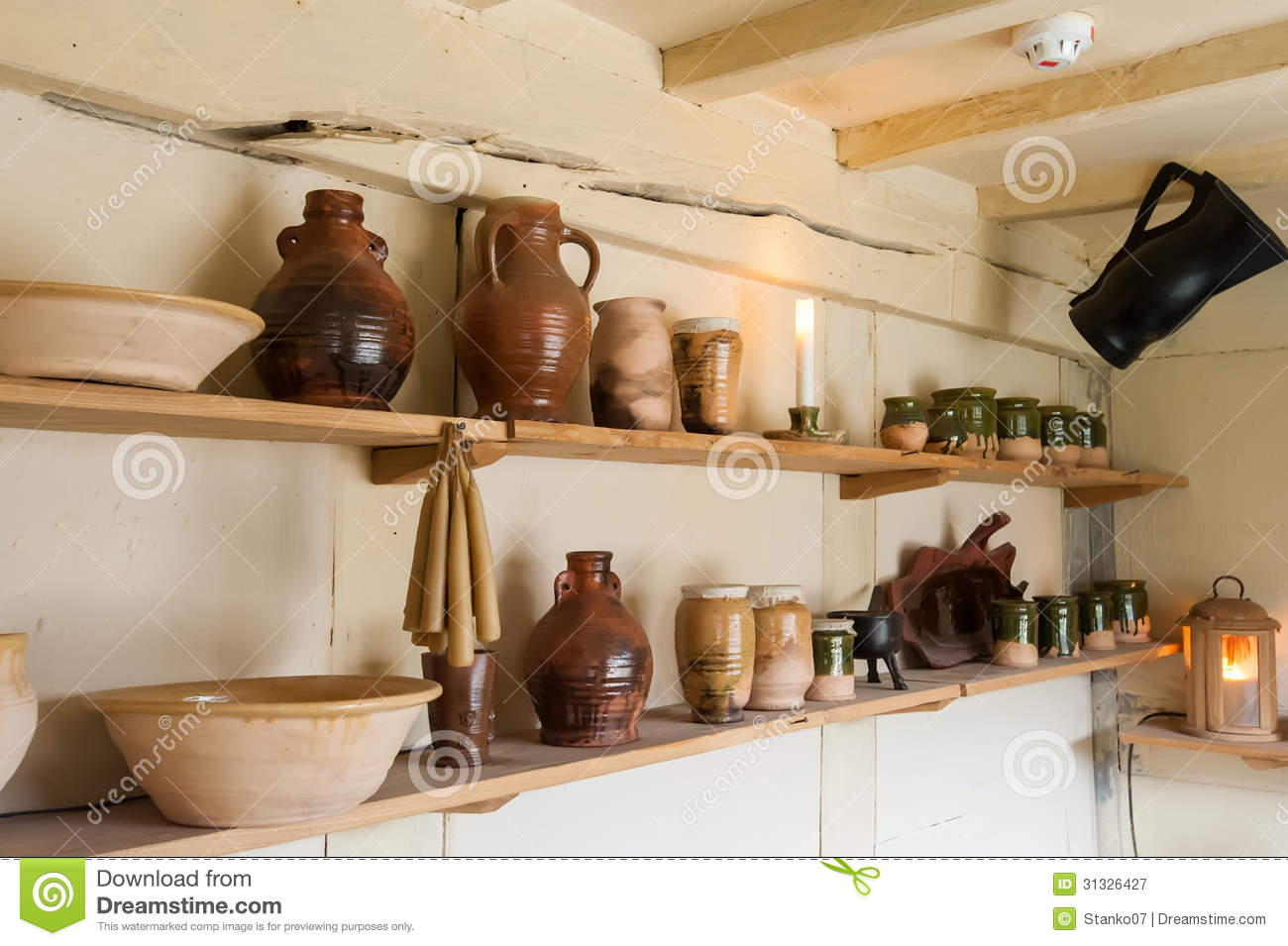Royalty Free Stock Photo. Download Kitchen Ceramics ...