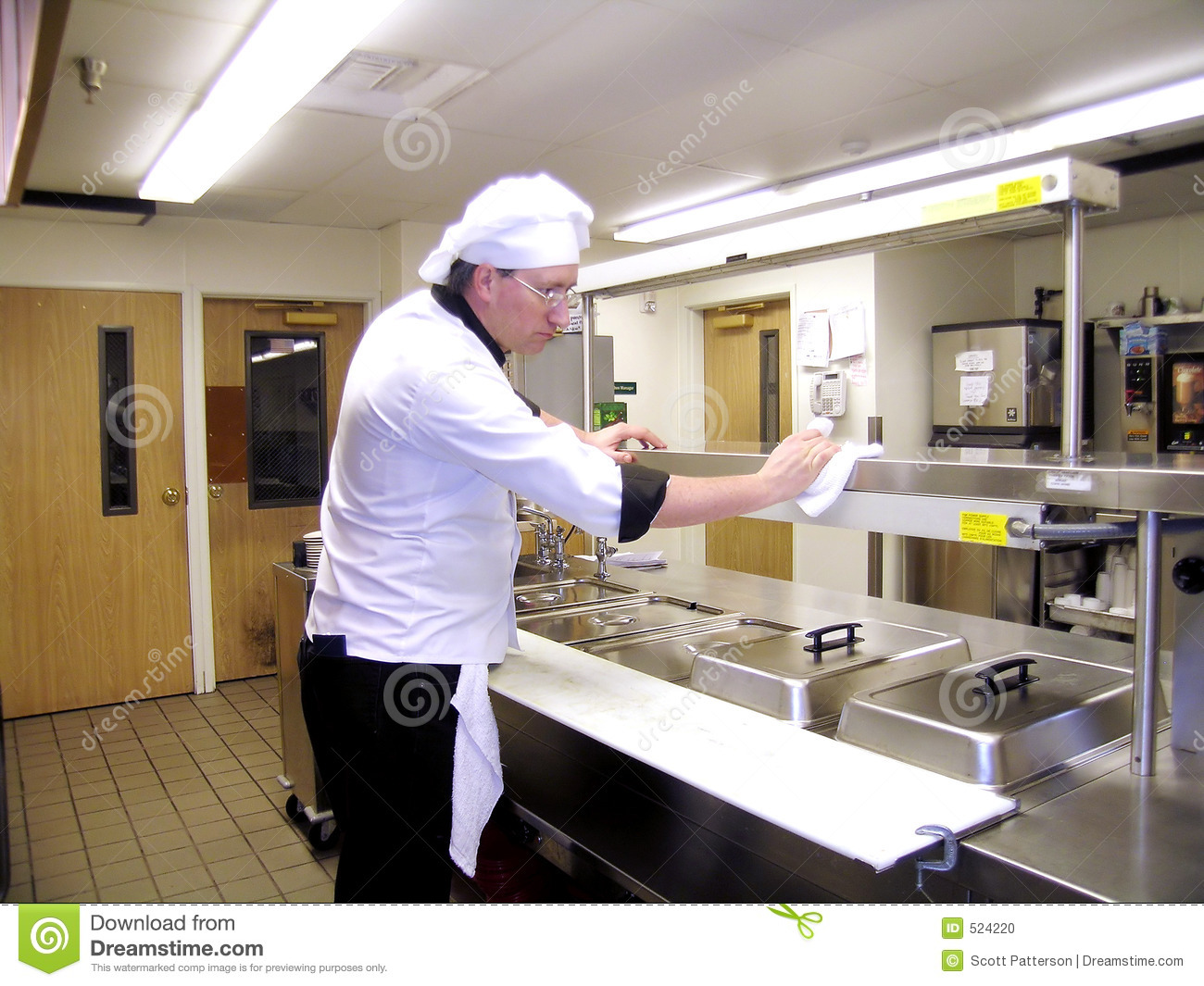 Kitchen Cleaning Stock Image