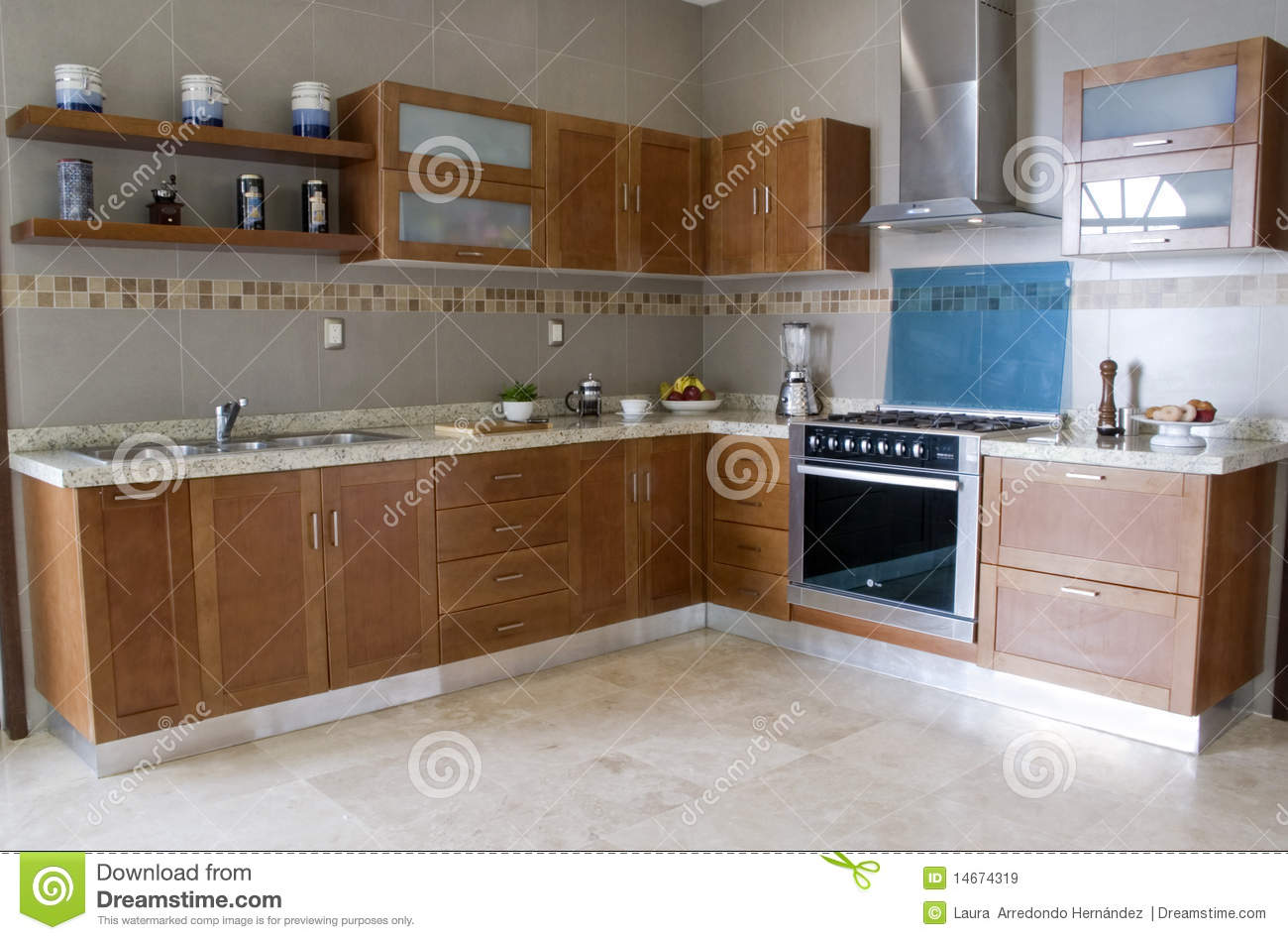 kitchen color peach royalty free stock images - image: 14674319