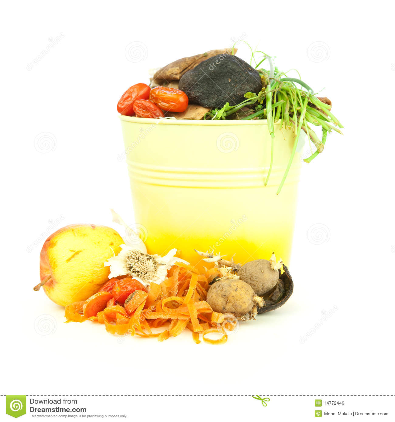 Kitchen compost bucket, vegetable scraps for organic and biodynamic ...