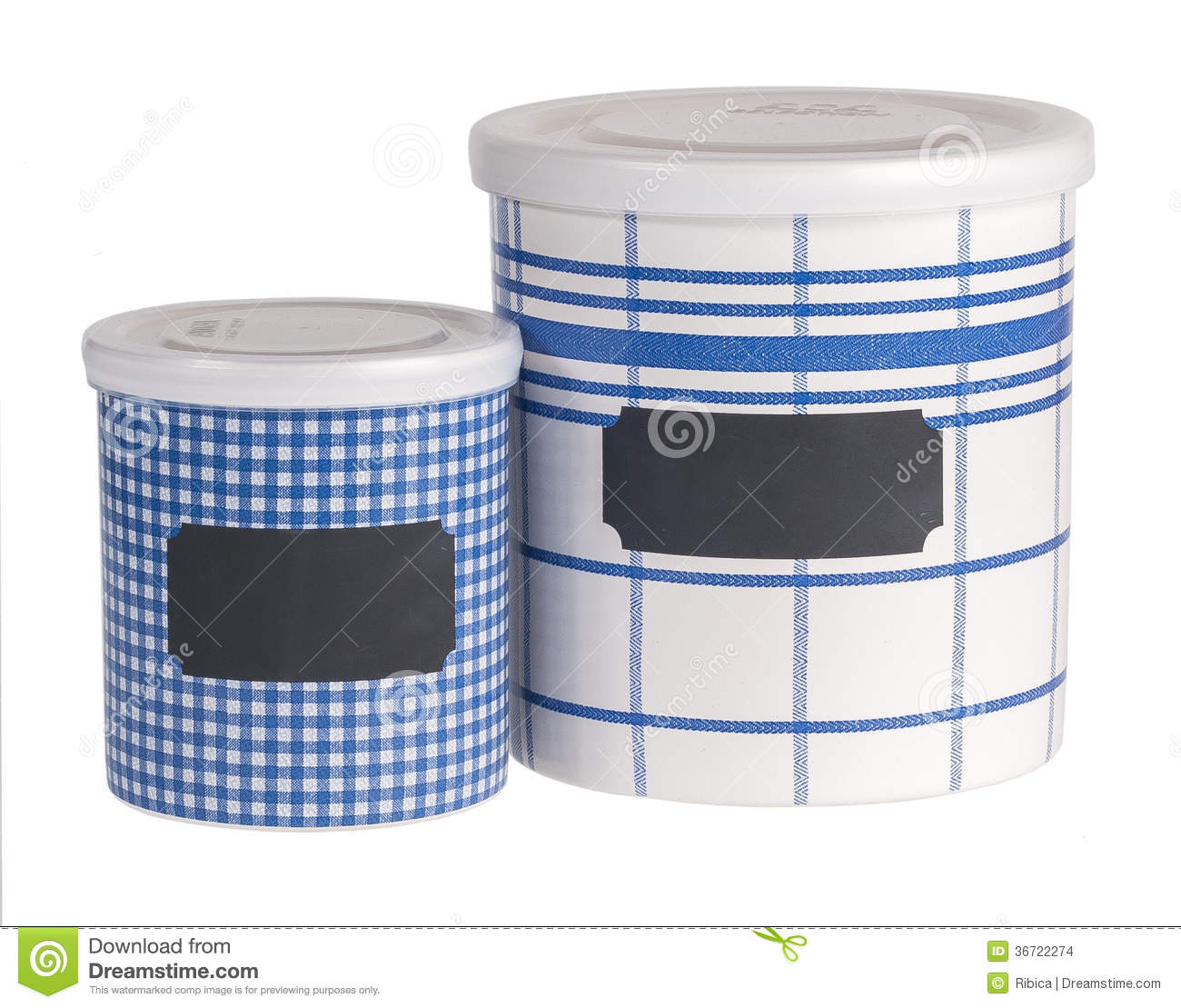 Kitchen Containers Stock Image