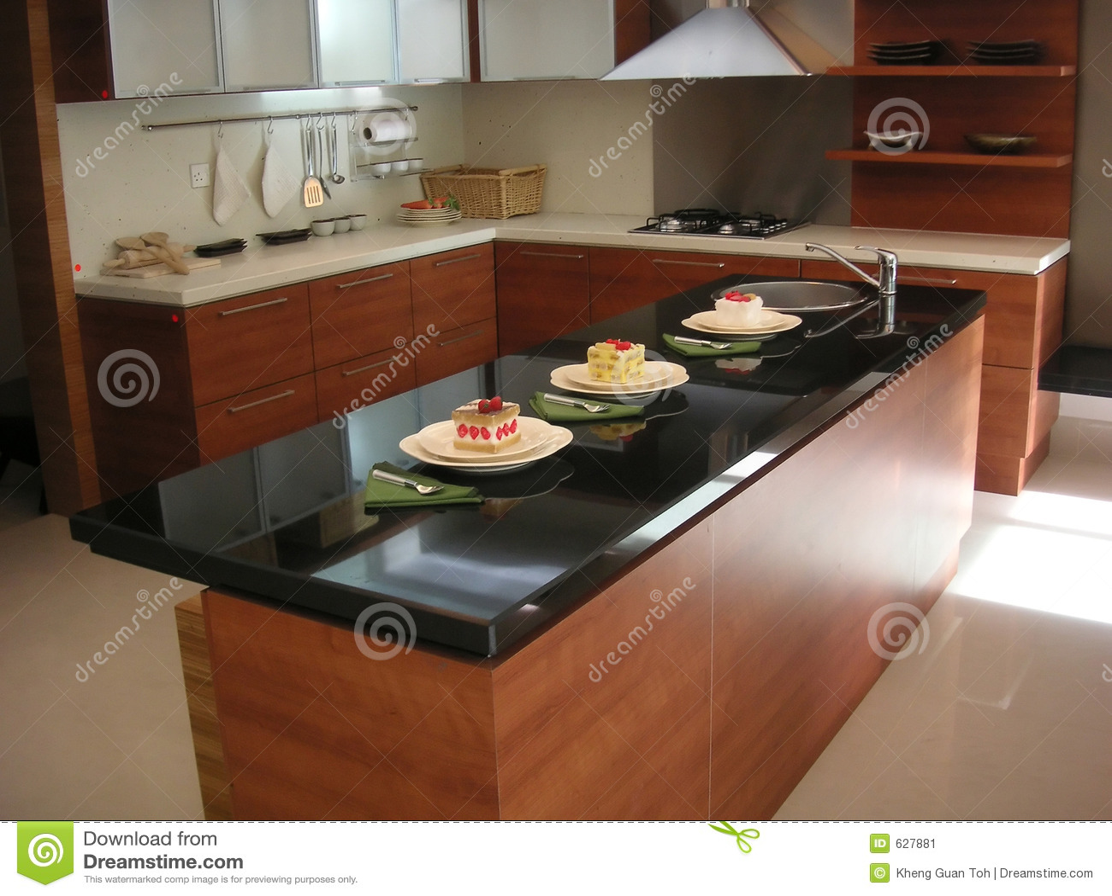 Kitchen Counter Stock Image Image 627881