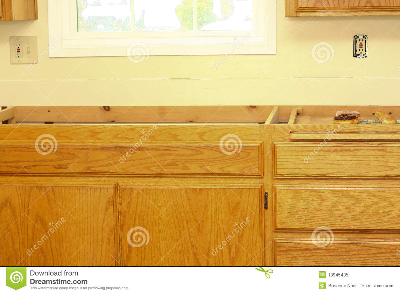 Kitchen Countertop Needs To Be Installed Royalty Free