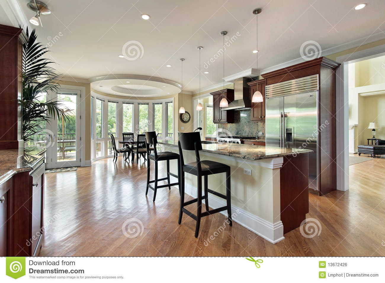 Kitchen With Curved Eating Area Royalty Free Stock Image Image 13672426
