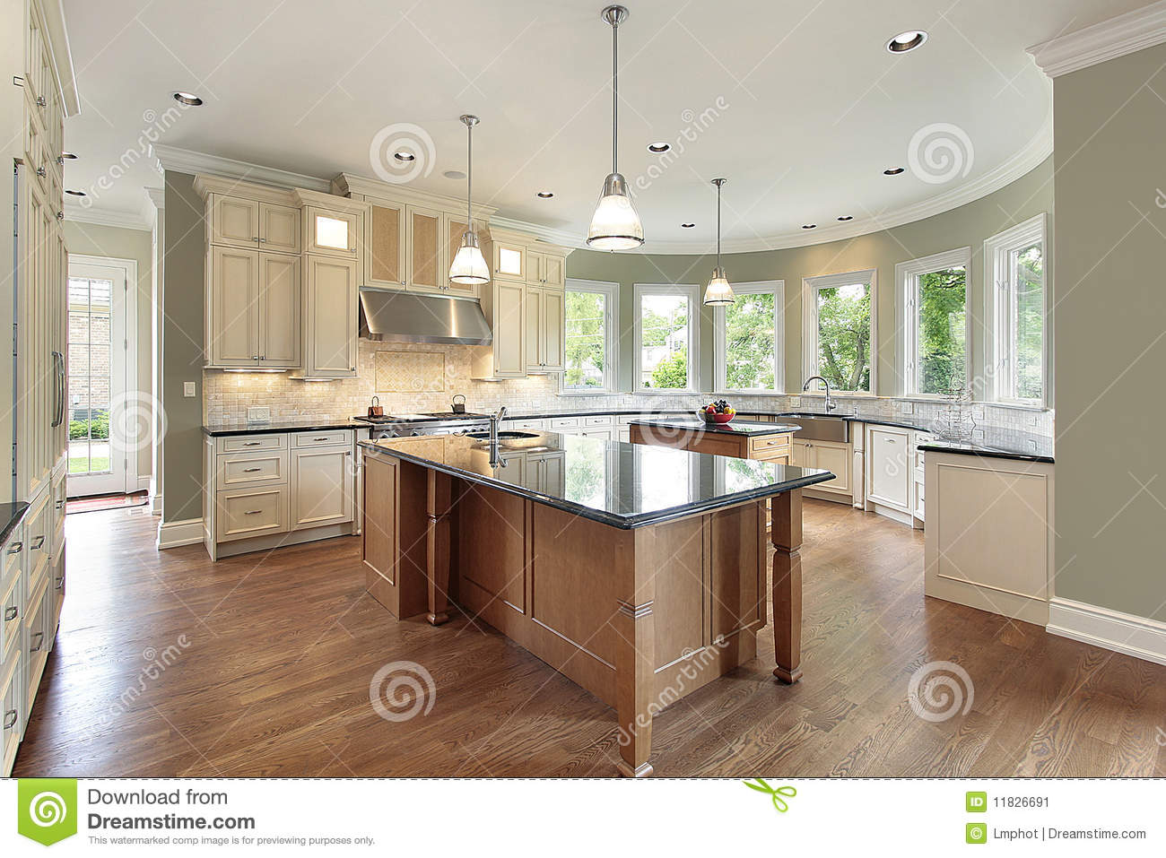 Kitchen With Curved Walls Stock Image Image Of Family