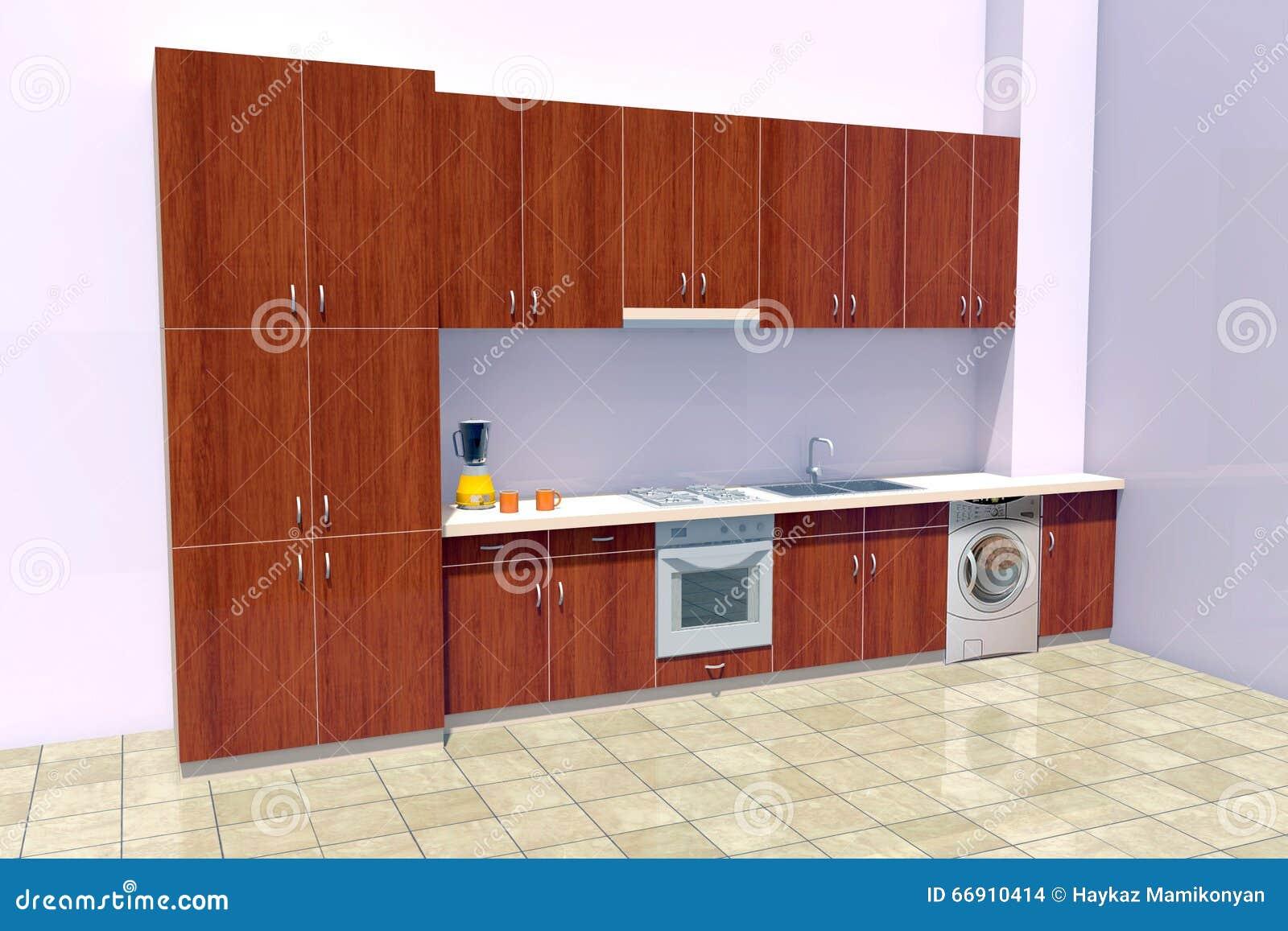 Kitchen Design Stock Illustration Image 66910414
