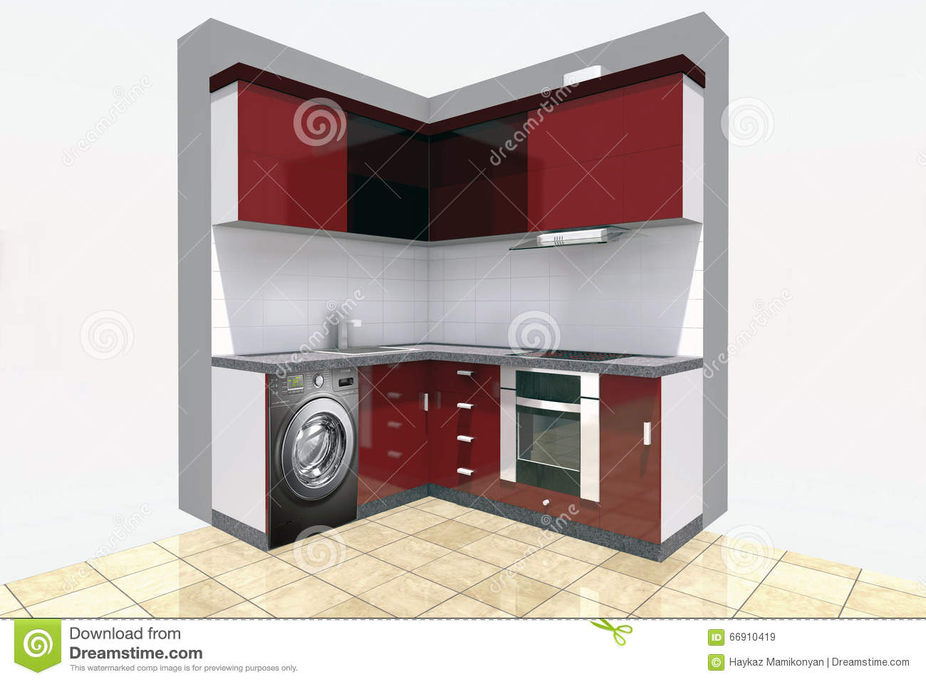 Autocad For Kitchen Design Kitchen Design Stock Illustration Image 66910419
